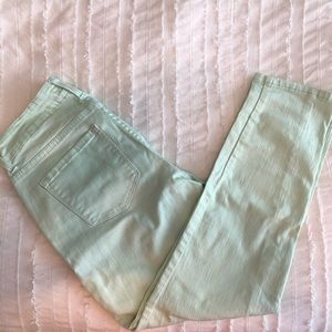 NYDJ mint green ankle jeans